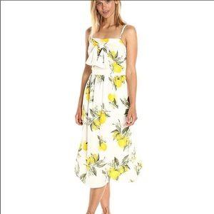 Beautiful lemon tie front dress
